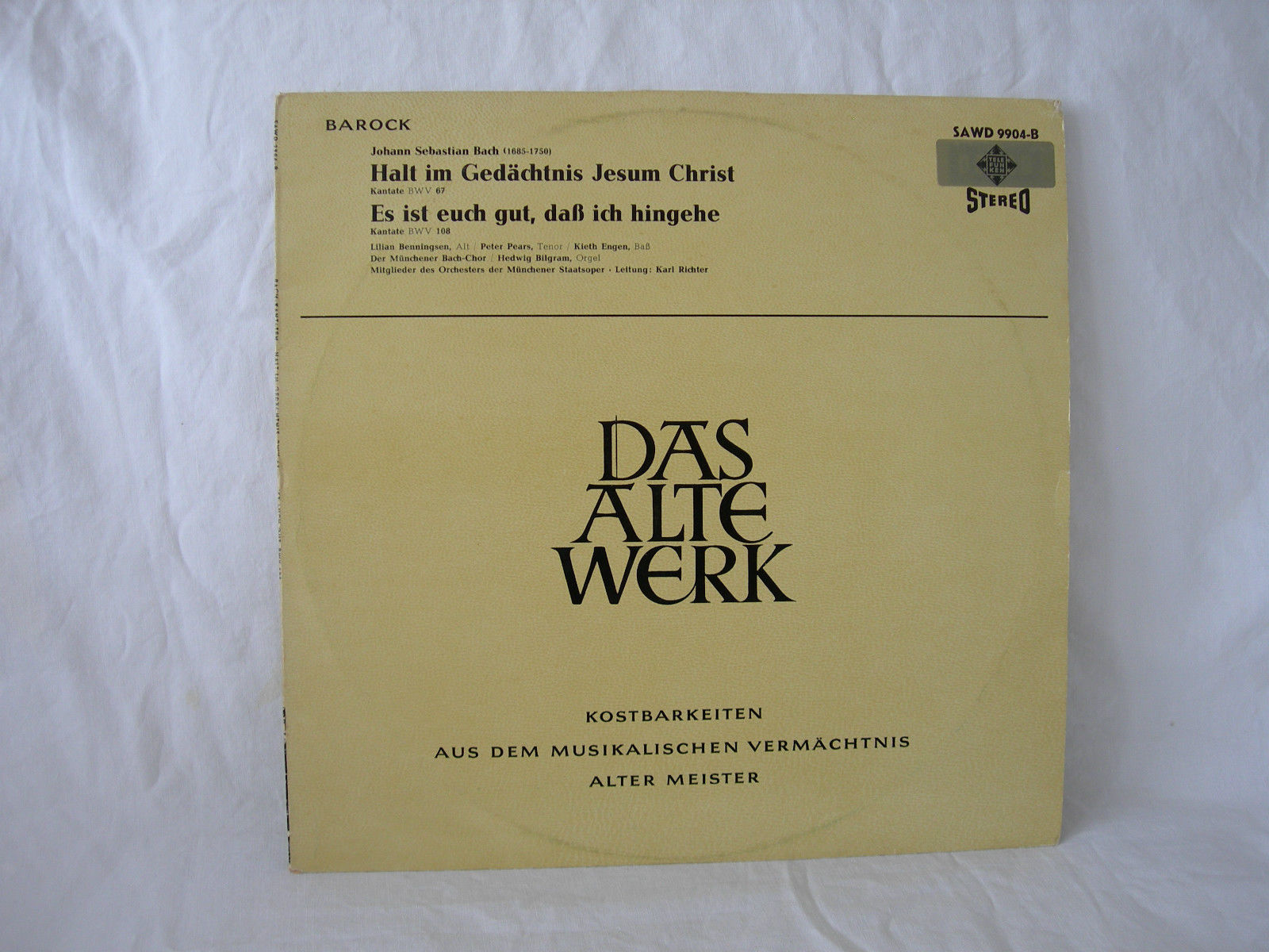 Kubik Haus Cantata Bwv 108 Details Discography Part 1 Complete Recordings